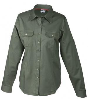 be9e35151bb Dámská košile s dlouhým rukávem James   Nicholson JN605