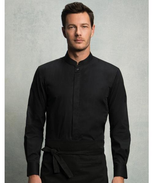 760853e032b DoRachoty.cz - Pánská košile se stojáčkem a dlouhým rukávem Bargear
