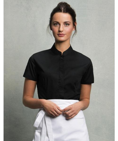 cce2ea52108 DoRachoty.cz - Dámská košile s krátkým rukávem a límečkem Mandarin Bargear
