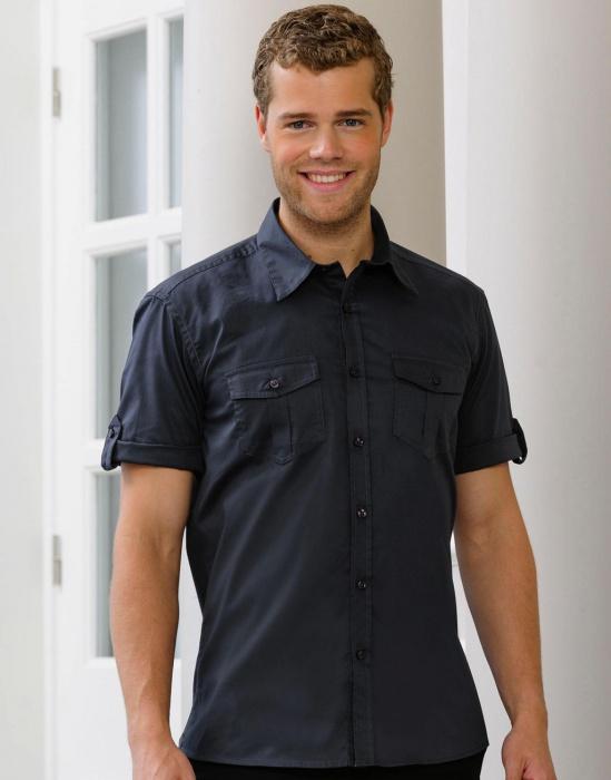 DoRachoty.cz - Pánská košile s krátkým vyhrnovacím rukávem Russell europe 5ba518a833