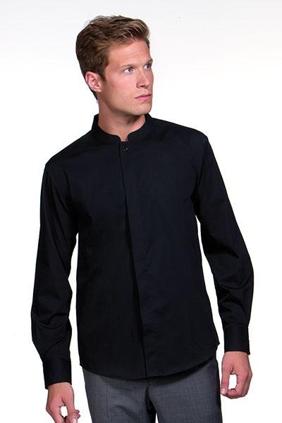925bbac219d Pánská košile se stojáčkem a dlouhým rukávem Bargear ...