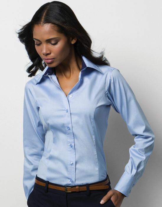 DoRachoty.cz - Dámská košile s dlouhým rukávem Contrast Premium Oxford  KUSTOM KIT 50f3ea79ba