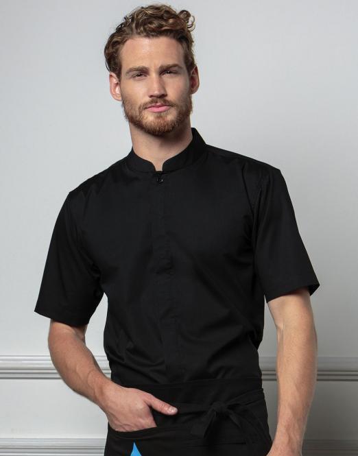 635567c2348 ... Pánská košile s krátkým rukávem a stojáčkem Mandarin Bargear ...