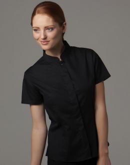 f5f28184490 ... Dámská košile s krátkým rukávem a límečkem Mandarin Bargear ...